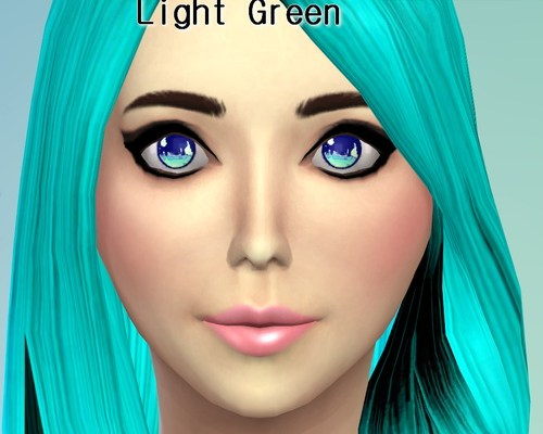 Shiny Colored Non-Default Eyes