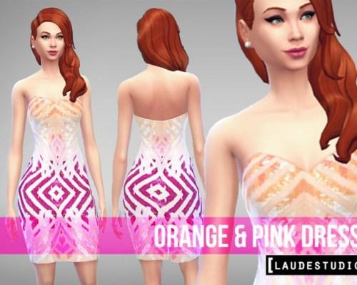 Orange & Pink Dress