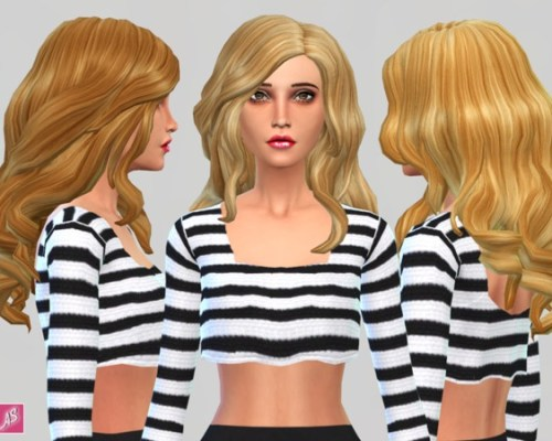 Blonde Ambition Long Wavy Over Shoulder hair by Alexandra Sine at The