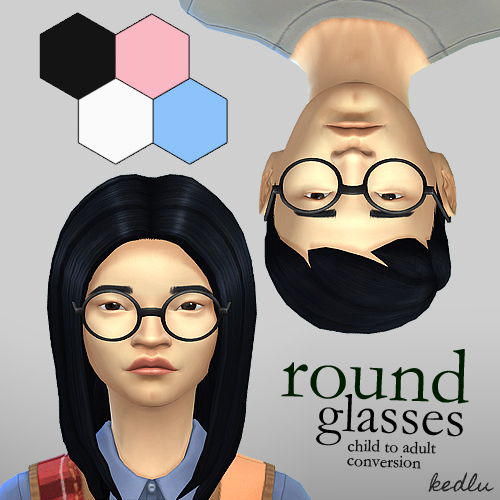 Round glasses for kids by KEDLU