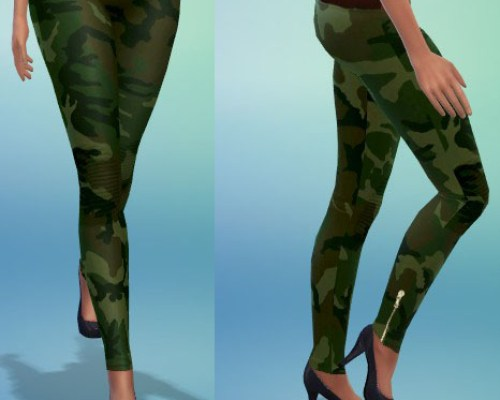 Camouflage legggings at