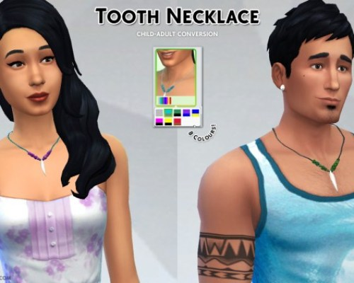 Tooth necklace and converted choker f2m