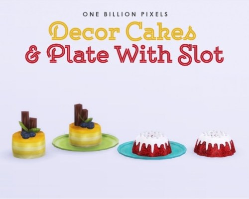 Decor Cakes & Plate With Slot