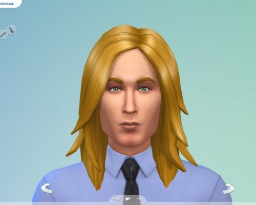 Long Rocker Hair for males by Sydria