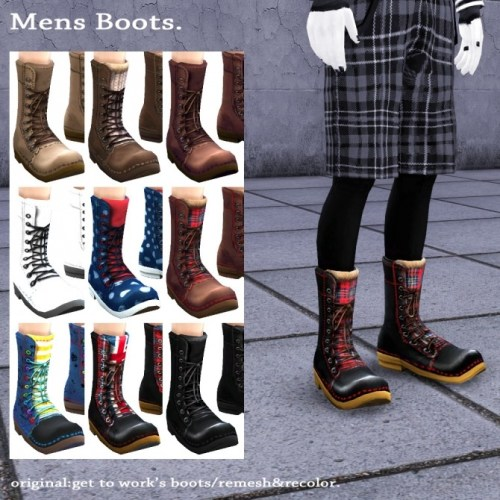 GTW boots for males recolor