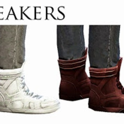 Fixed male sneakers