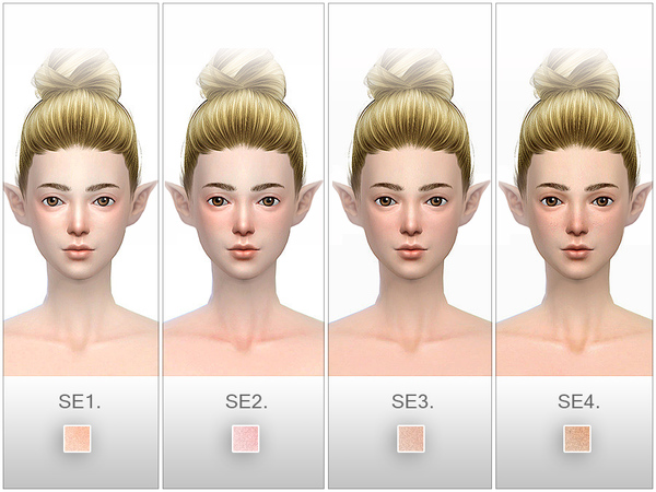 HS Snow Elf Skintones (F) 1.0 By S-Club