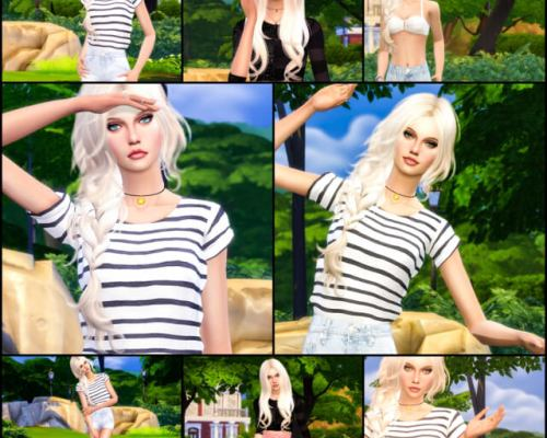 8 Summer Poses for Cas and InGame by Dreacia