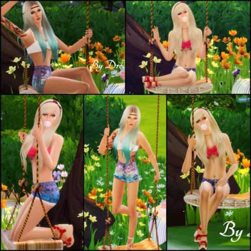 Summer Swing pose by Dreacia