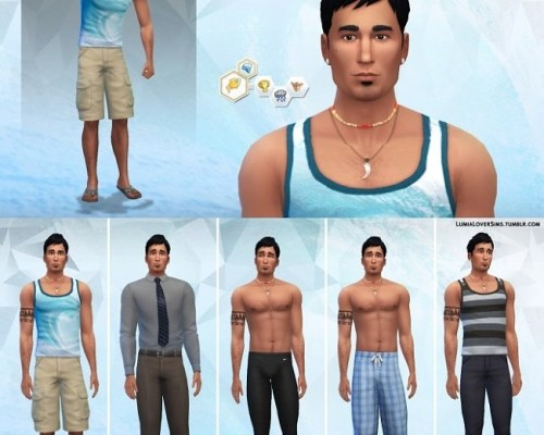 Makaio Kapena male sim model