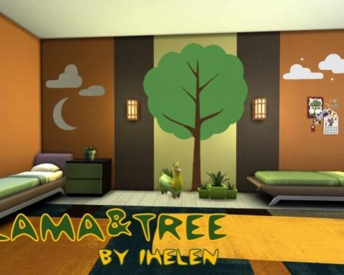 Llama&Tree kids room by ihelen