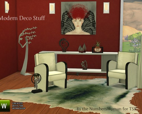 Modern Deco Stuff –  start off Sims 4 object Creation! at The