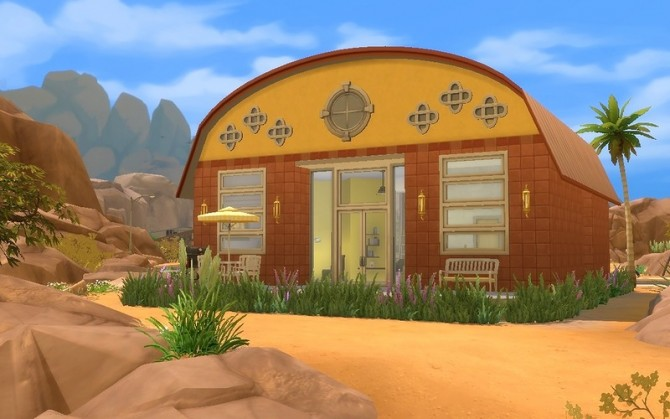 Sunflower Cozy Hangar By Dolkin - Sims 4 Residential Lots