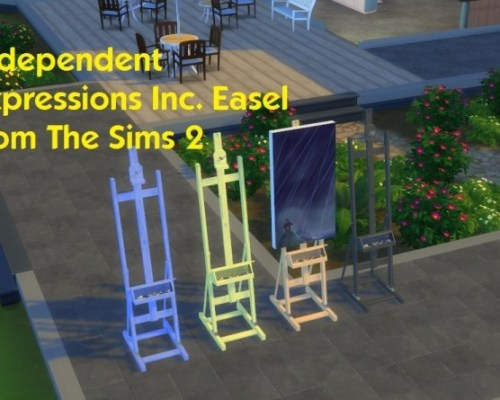 Independent Expressions Inc. Easel from The Sims 2 by simmythesim