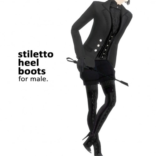 Stiletto heel boots for males