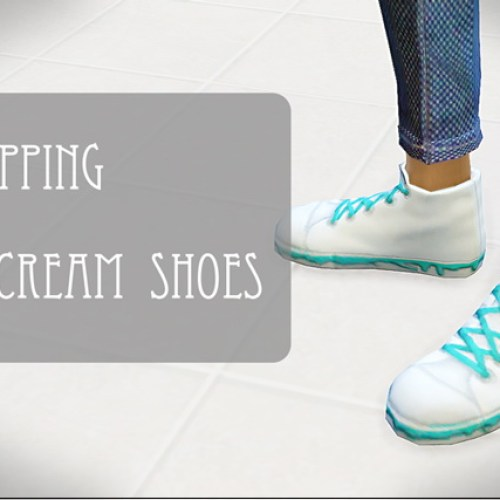 Dripping icecream shoes