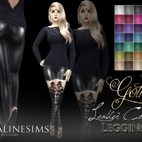 Gothic Leather Corset Leggins by Pralinesims