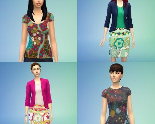 Non-Default Replacement Top & Skirt Recolors
