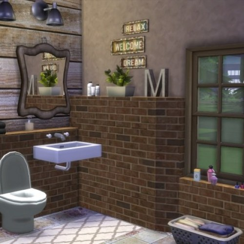 Rustic Bathroom by Kiara