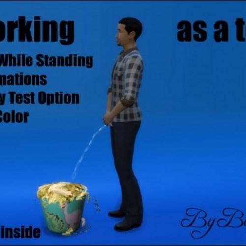 Bin working as a toilet (Tutorial item) by Bakie