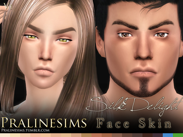 Silk Delight Skintones + Body Freckles By Pralinesims