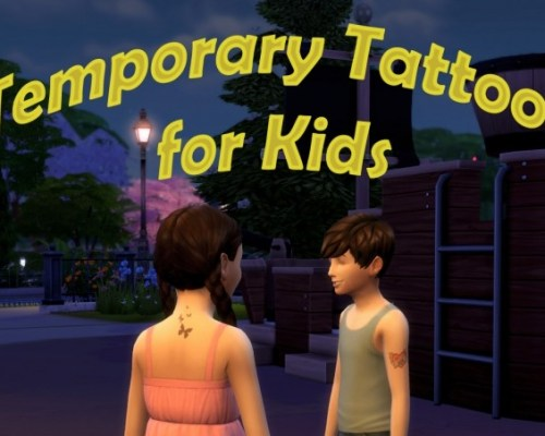 Temporary Tattoos for Kids by scumbumbo