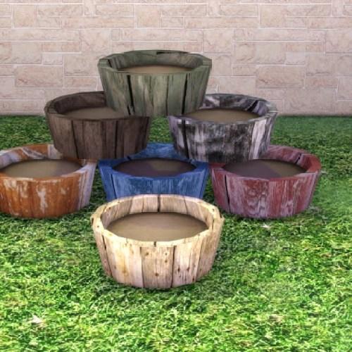 Garden Wooden Pot