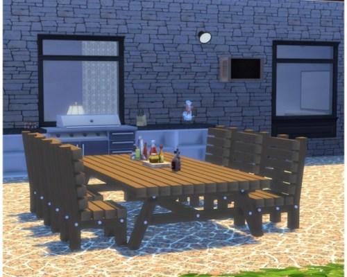 Outdoor Timber Set at — select a