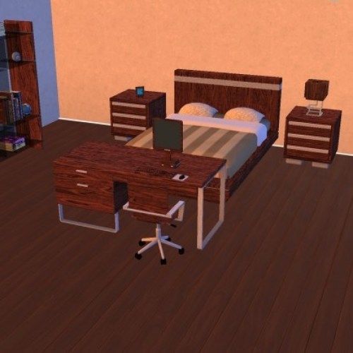 Modern Bed/Study Room by g1g2