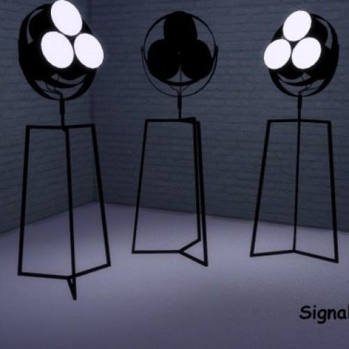 Les Spots + Fabrica Suspended Lights + Signal Floor Lamp