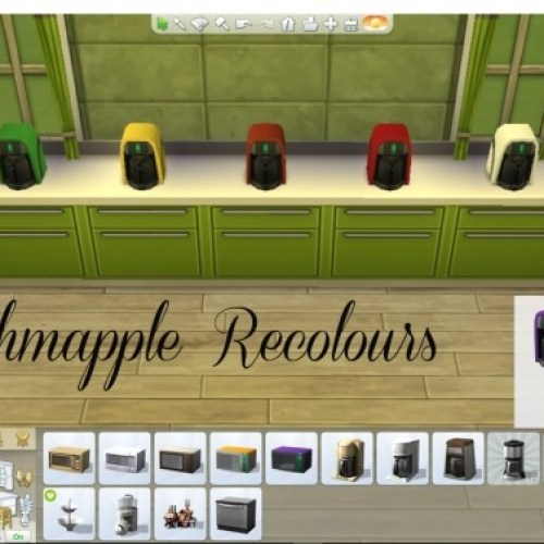Schmapple Small Appliance Recolours by Simmiller