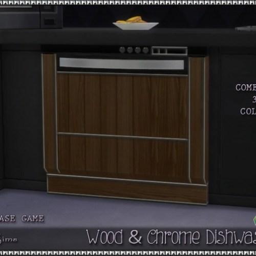 Srsly's Wood & Chrome Dishwasher