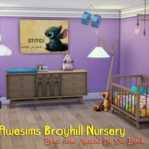 Awesims Broyhill Nursery + Jet Set Bench
