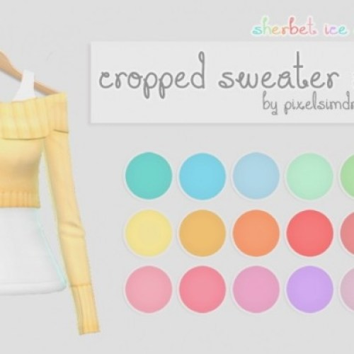 SP03 Cropped Sweater Recolors