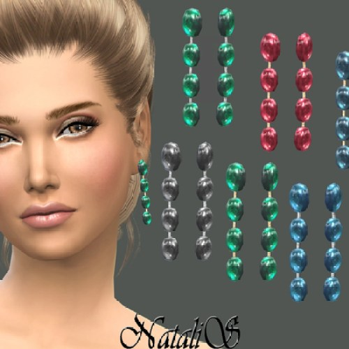 Drop earrings with cabochons by NataliS