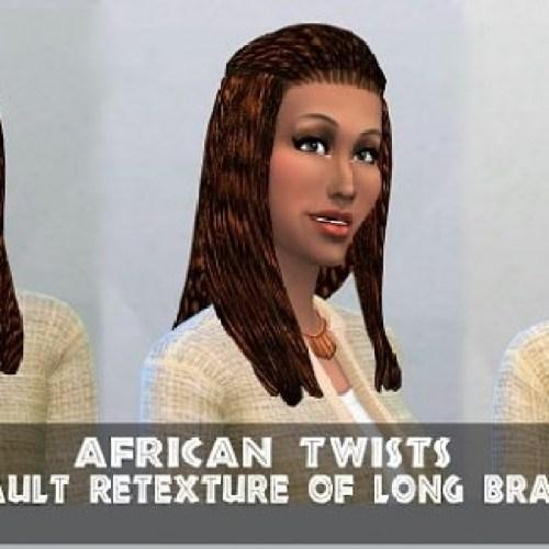 African Twists long braids by DrTeeKayCee