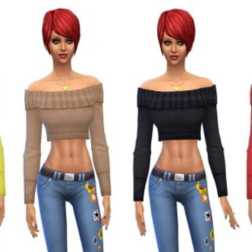Female Off Shoulder Sweater Huge Edit