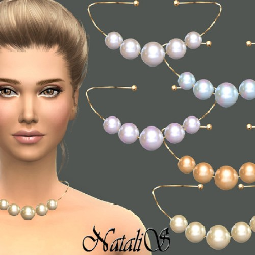 Faux pearl necklace by NataliS