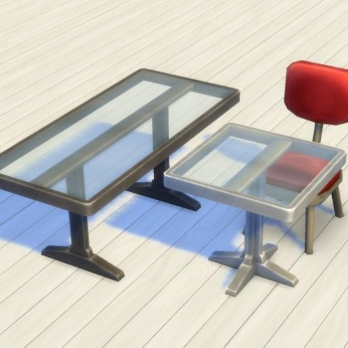 Simple Metal Tables by plasticbox