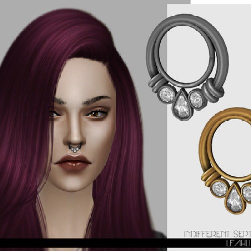 Indifferent Septum Ring by LeahLilith