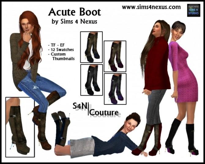 Acute Boot By SamanthaGump