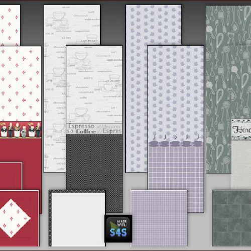 4 kitchen wallsets with floors by Mabra