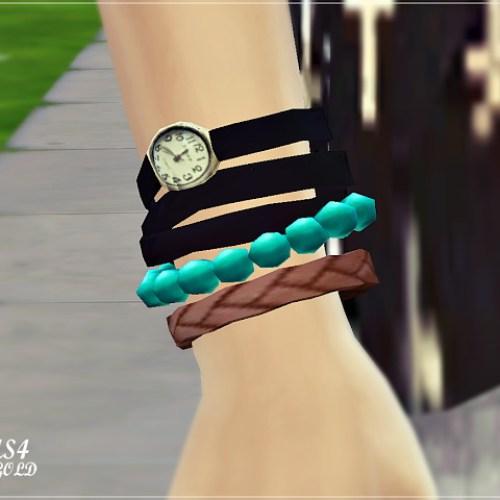 Strap watch with bracelet