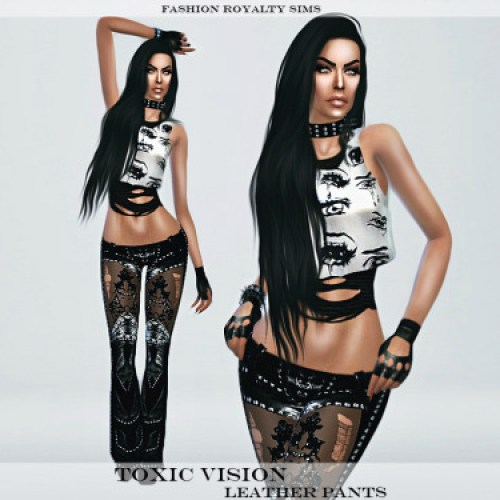 Toxic Vision Leather Pants