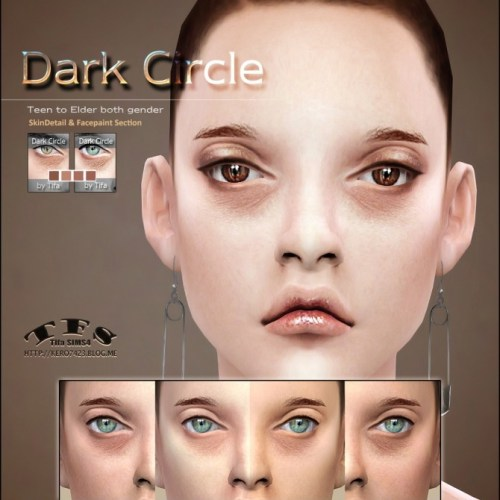 Dark Circle eyebag skindetail & facepaint