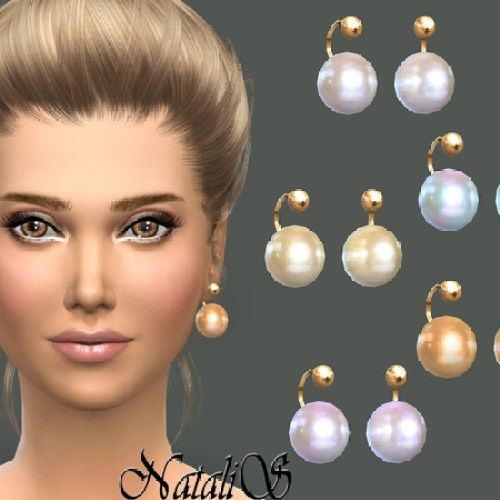 Faux pearl earrings by NataliS