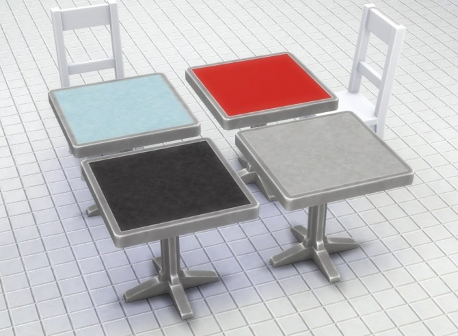 Metal Table With Lino Top By Plasticbox