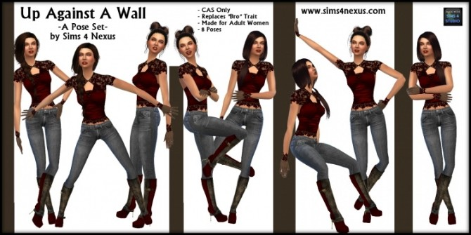 Up Against A Wall Pose Set By Samantha Gump