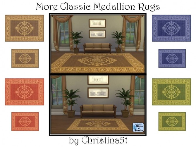 More Classic Medallion Rugs By Christina51