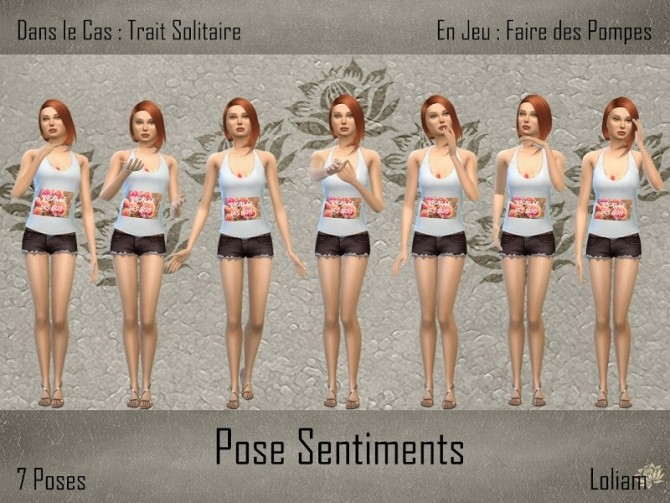 SENTIMENTS Poses Pack By Loliam